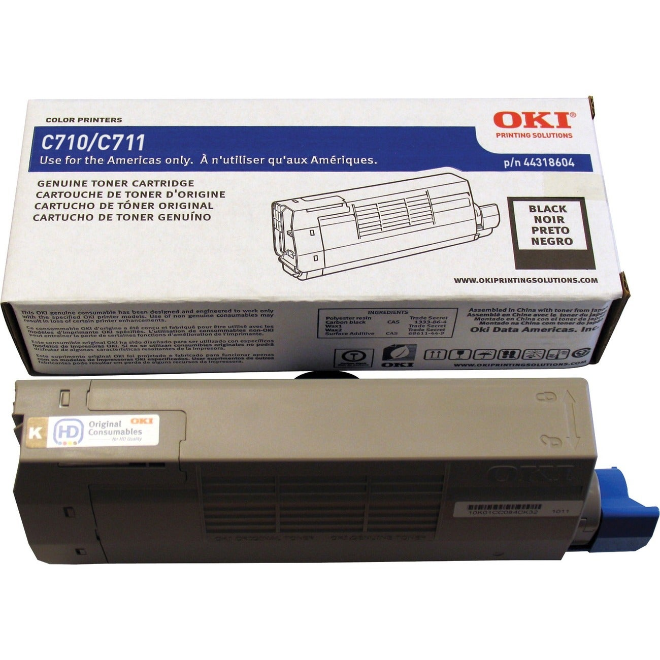 Oki 44318604 Toner Cartridge - Black - Thumbnail 0