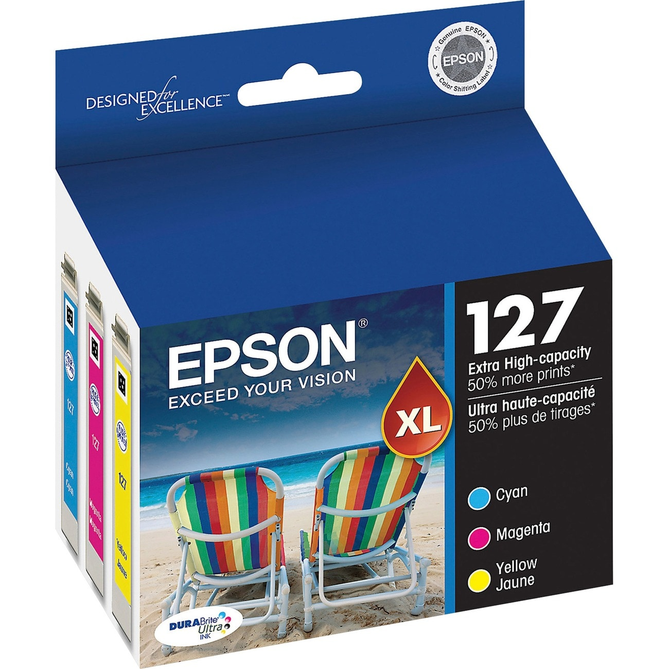 Epson DURABrite T127520 High Capacity Multi-Pack Ink Cartridge