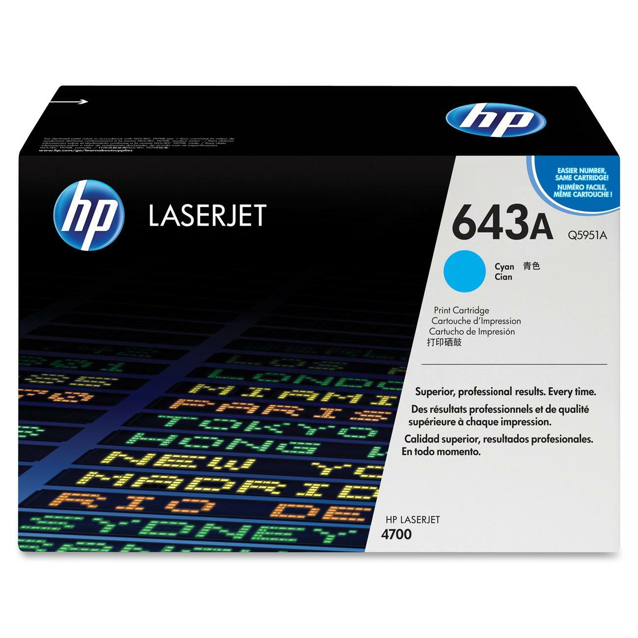 HP 643A Cyan Toner Cartridge