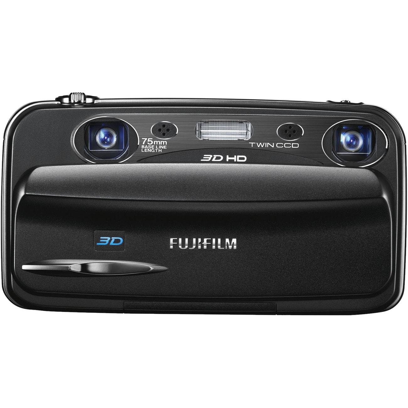 Fujifilm FinePix W3 10MP Black 3D Digital Camera