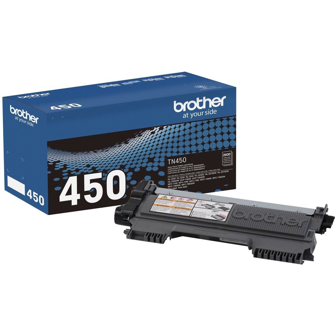 Brother TN450 High Yield Black Toner Cartridge - Thumbnail 0