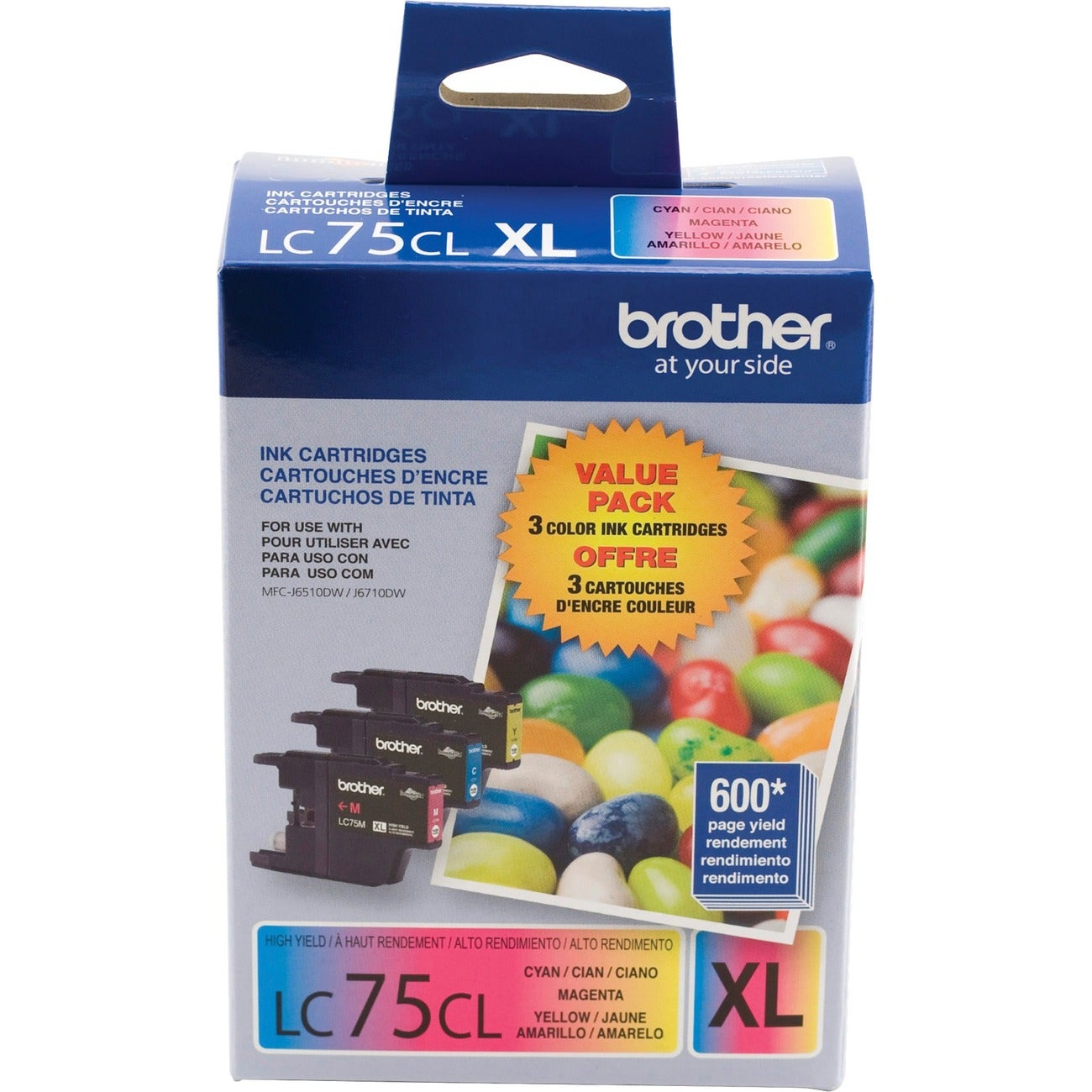 Brother LC753PKS Ink Cartridge (Pack of 3) - Thumbnail 0