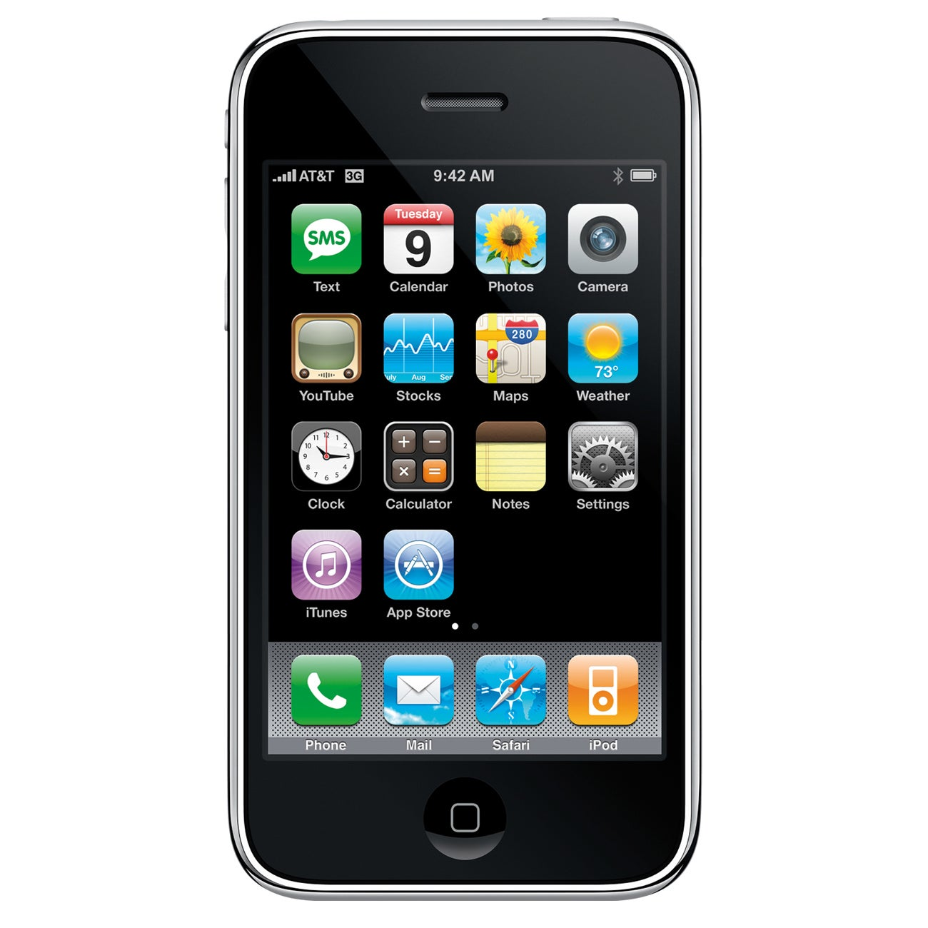 Apple iPhone 3GS Smartphone - Wi-Fi - 3.5G - Bar - Black - Thumbnail 0
