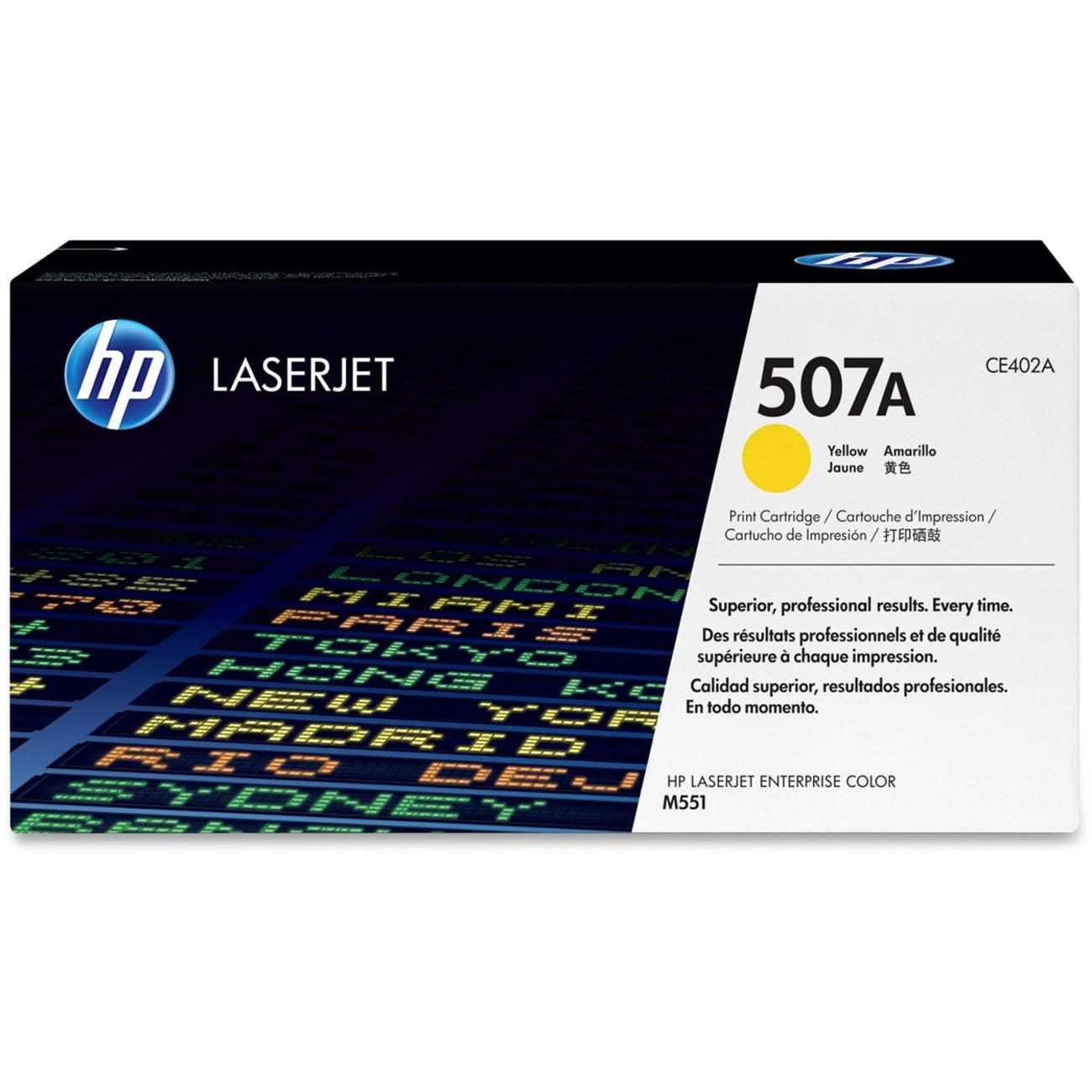 HP 507A Toner Cartridge - Yellow - Thumbnail 0