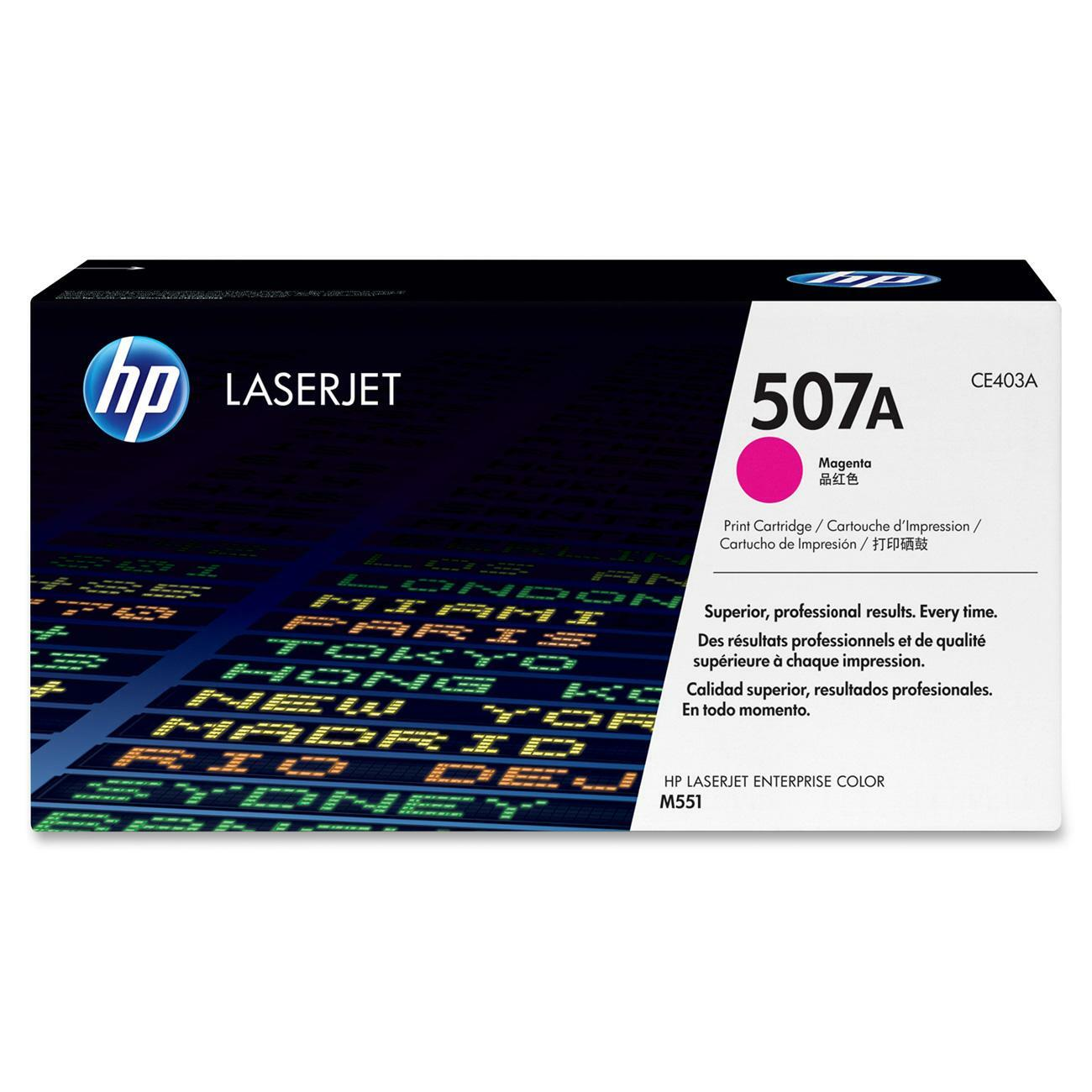 HP 507A Toner Cartridge - Magenta - Thumbnail 0