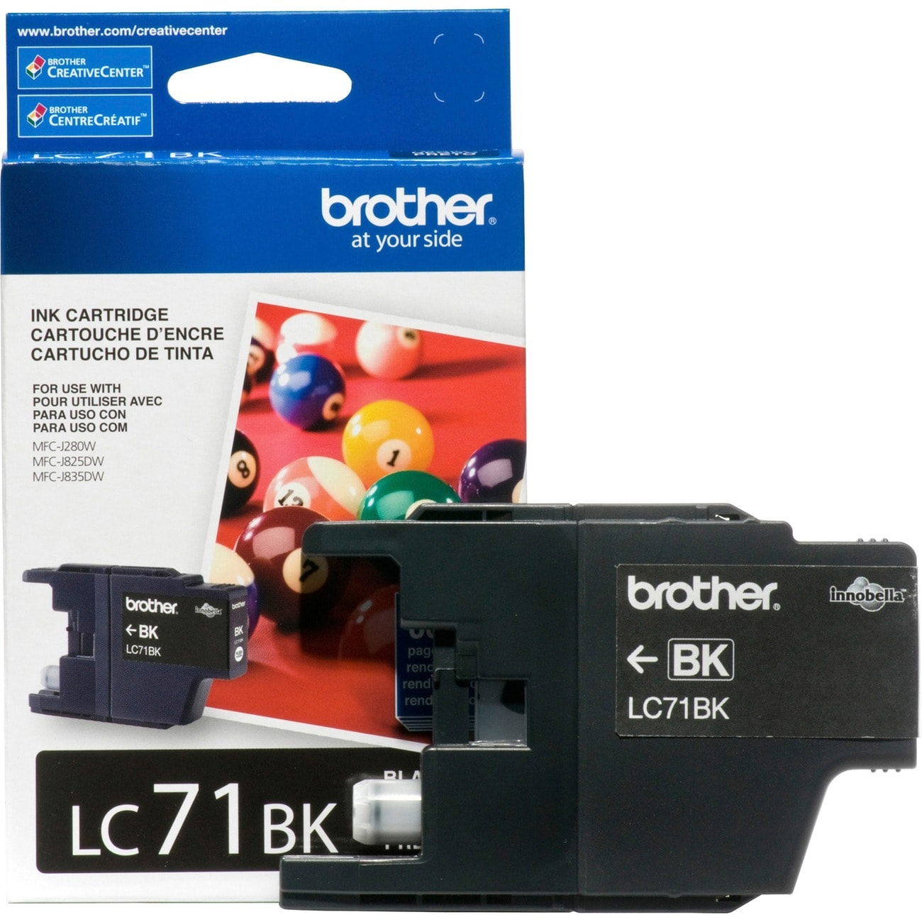 Brother Innobella LC71BK Standard Yield Ink Cartridge - Thumbnail 0
