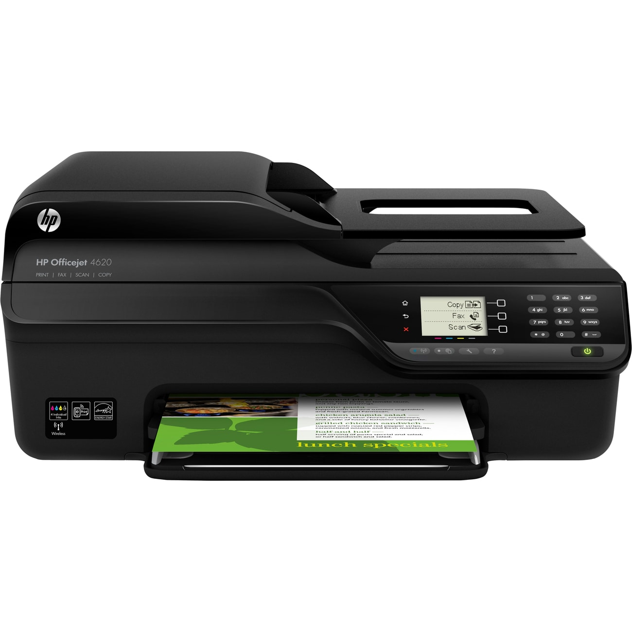 HP Officejet 4620 Inkjet Multifunction Printer - Color - Plain Paper - Thumbnail 0