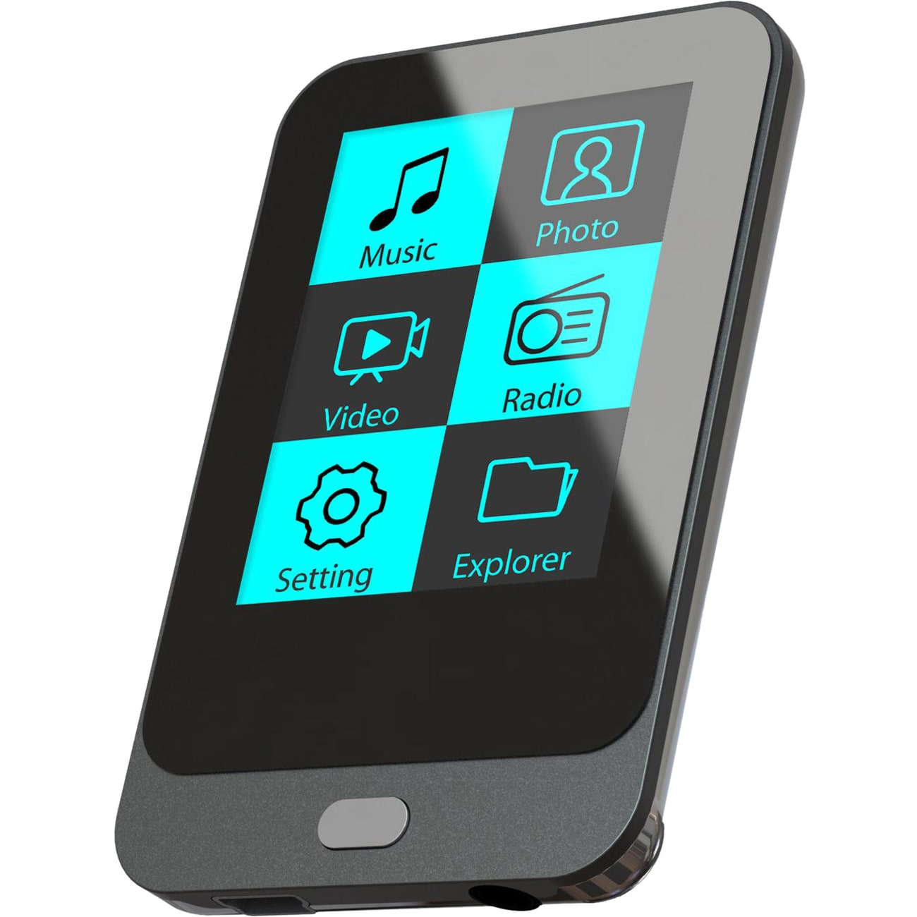 Coby 8 GB Black Flash Portable Media Player - Thumbnail 0