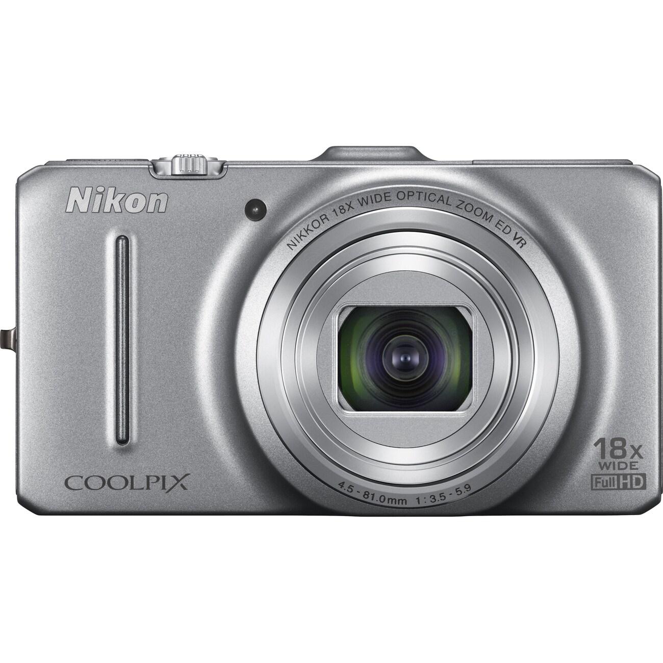 Nikon Coolpix S9300 16MP Silver Digital Camera
