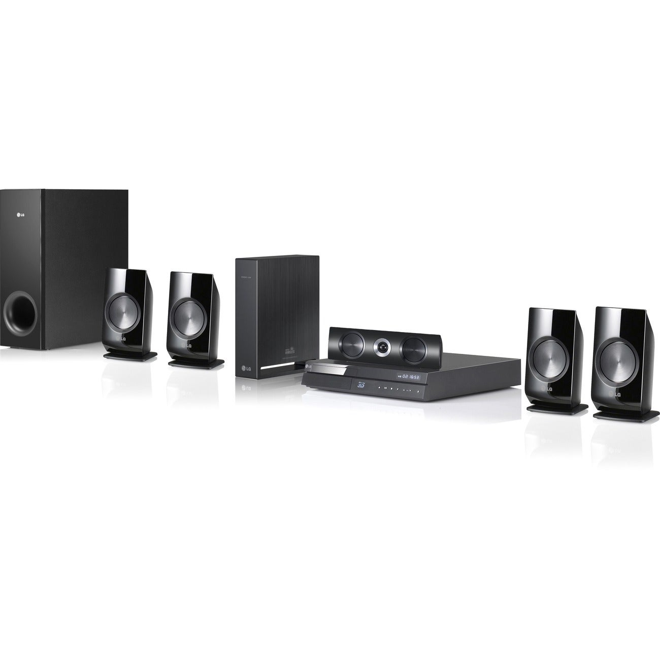 LG BH6820SW 5.1 3D Home Theater System - 1000 W RMS - Blu-ray Disc Pl