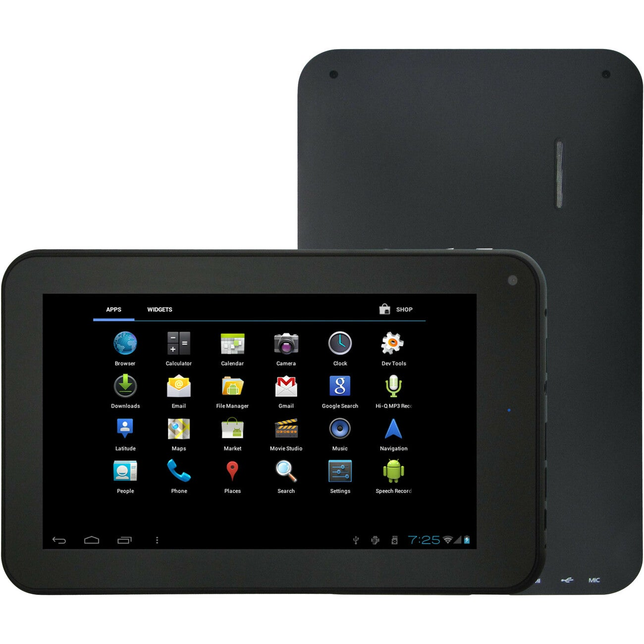 """Supersonic SC-75MID 7"""" 4 GB Slate Tablet - Wi-Fi - Boxchip A10 1.20 G"""