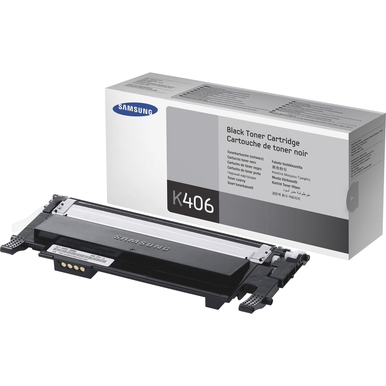 Samsung CLT-K406S Toner Cartridge - Black - Thumbnail 0