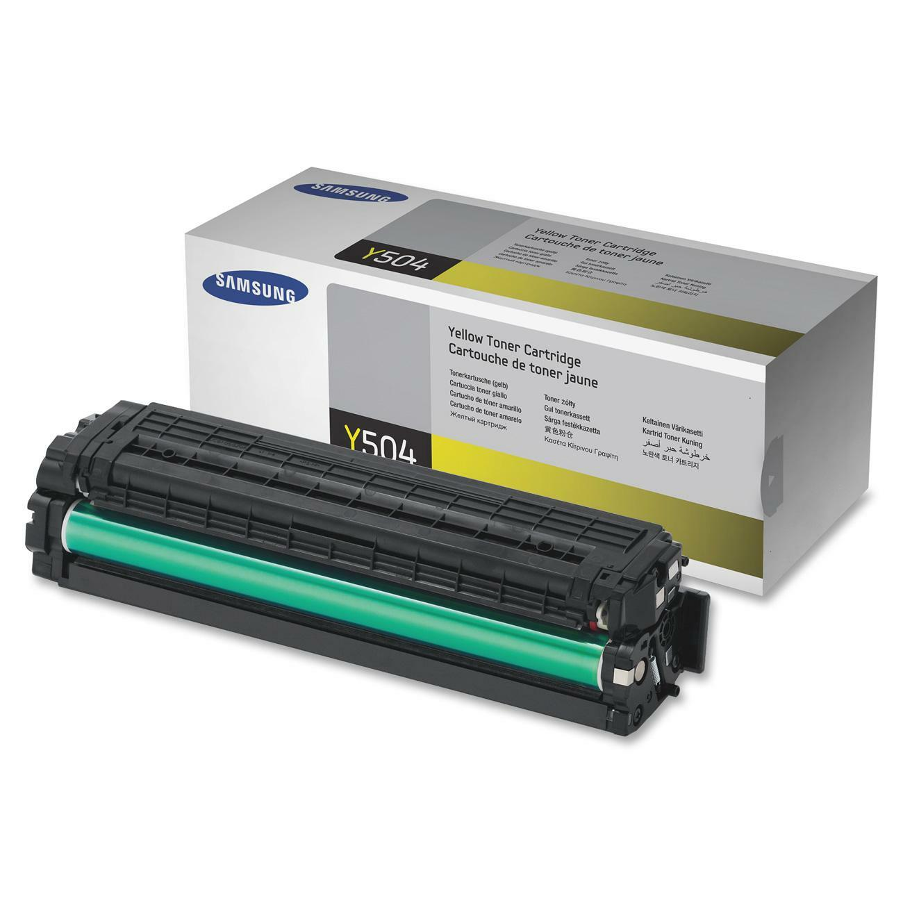 Samsung CLT-Y504S Toner Cartridge - Yellow - Thumbnail 0