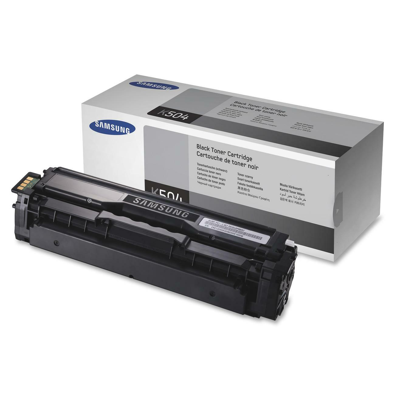 Samsung CLT-K504S Toner Cartridge - Black - Thumbnail 0