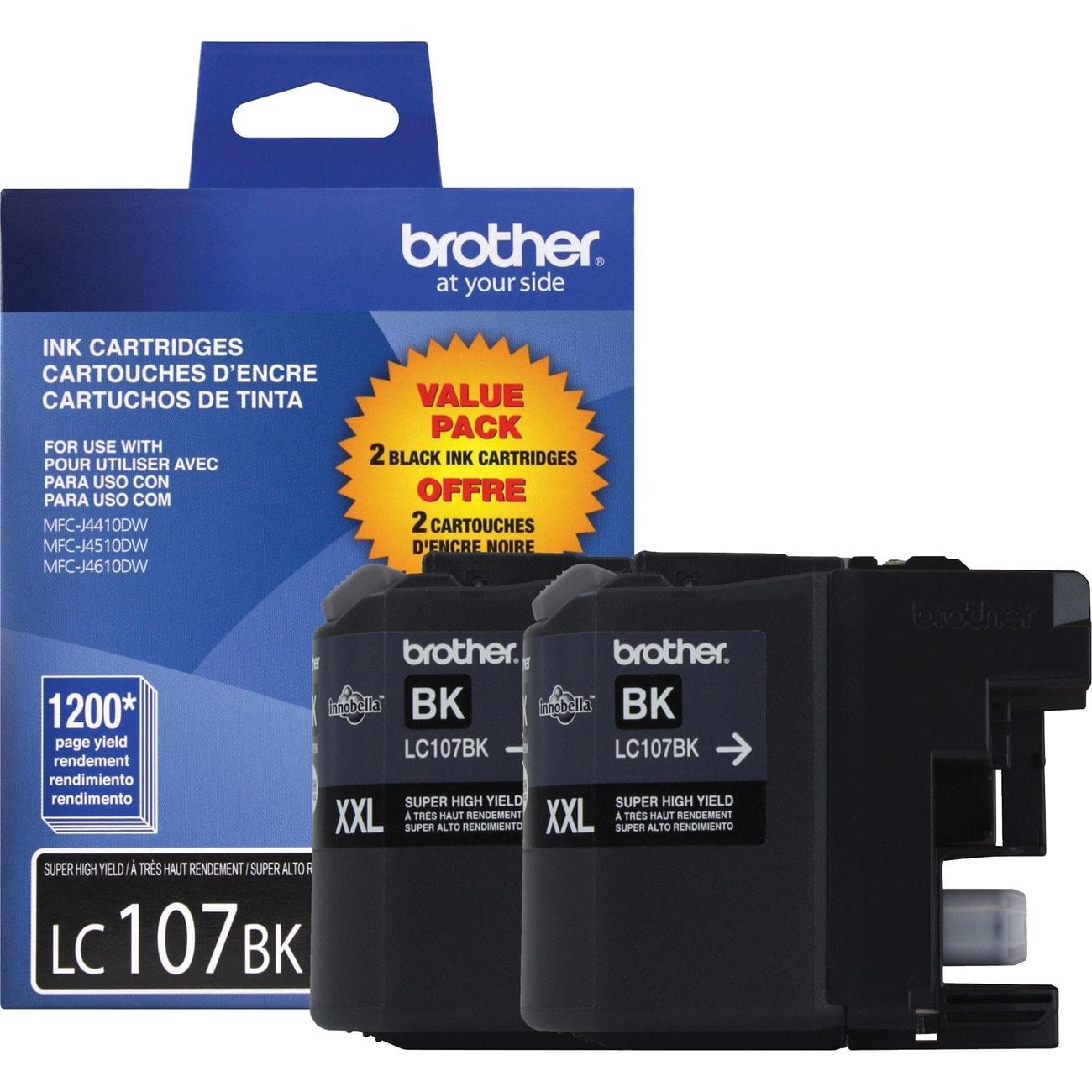 Brother Innobella LC1072PKS Black Replacement Ink Cartridge (Pack of 2)