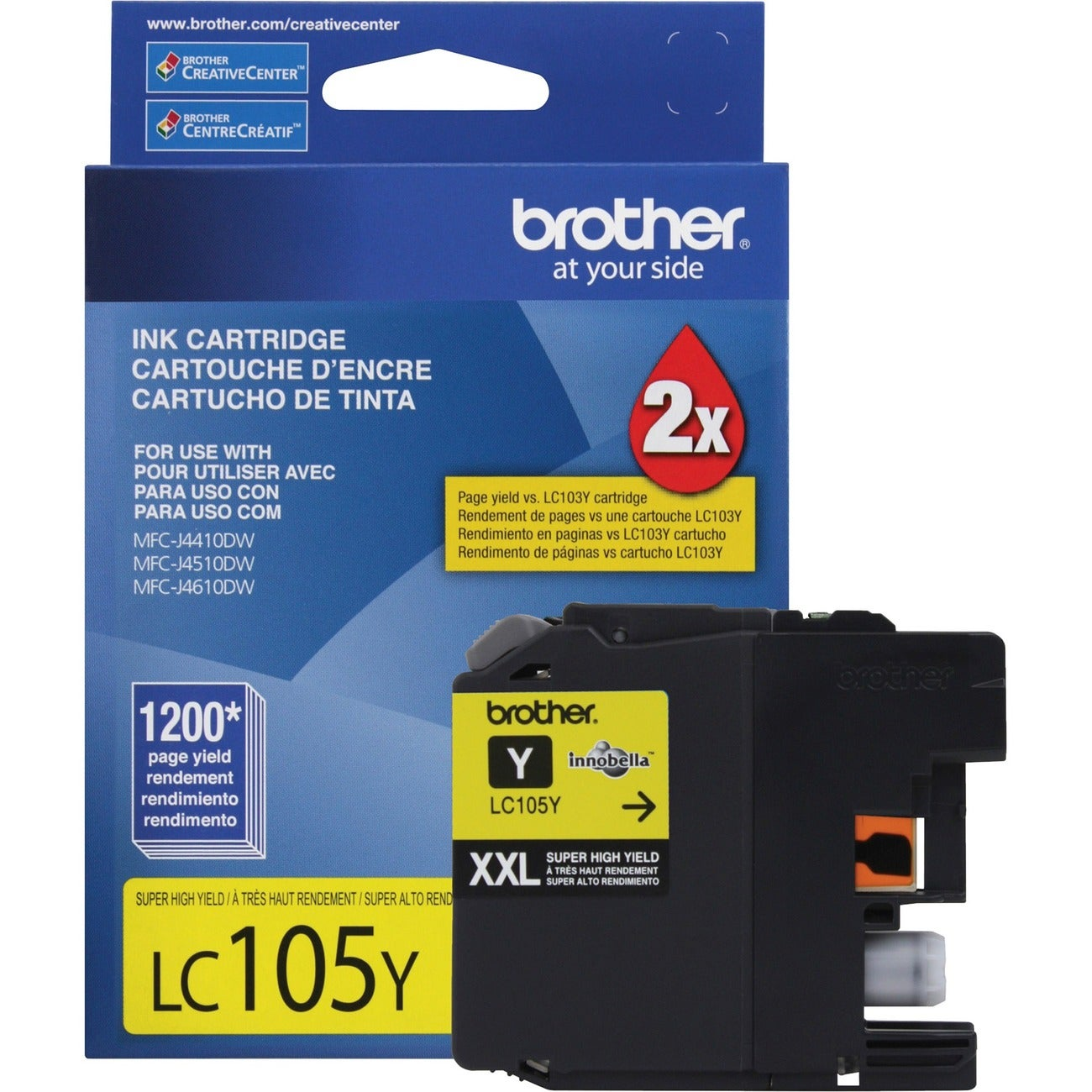 Brother Innobella LC105Y Yellow Ink Cartridge