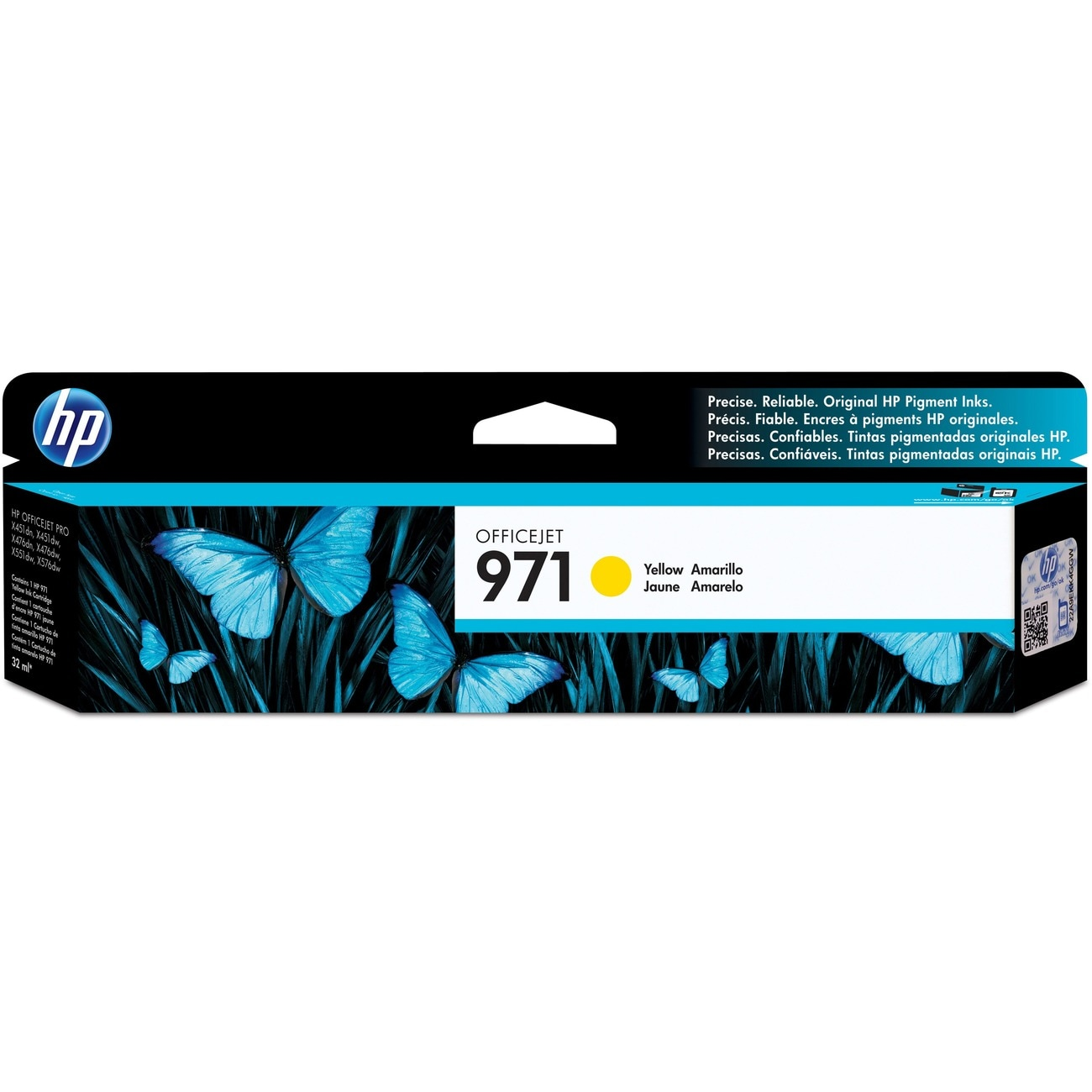 HP 971 Yellow Original Ink Cartridge - Thumbnail 0