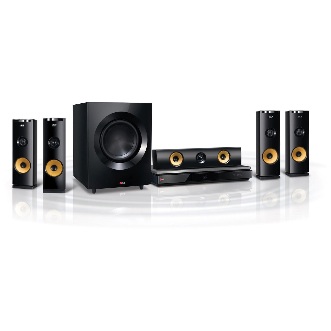 LG BH9230BW 1460W 9.1ch 3D Smart Home Theater System with Wireless Speakers