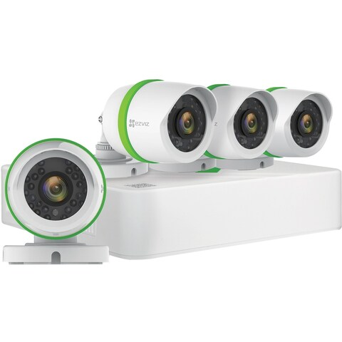 EZVIZ Smart Home 1080p Security Camera System, 4 Weatherproof HD 1080
