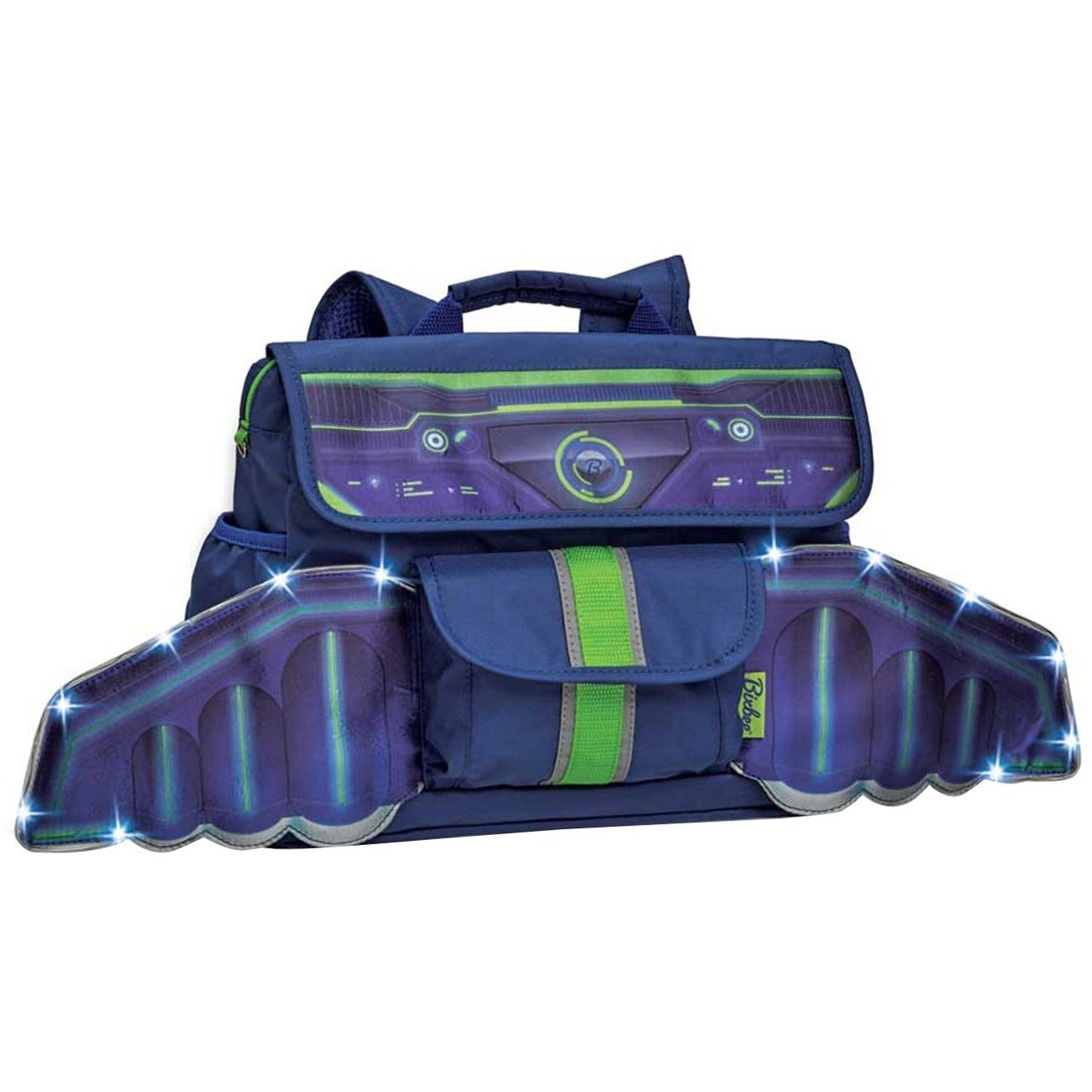 Bixbee Space Racer Kids Backpack with Light Up LED Wings ...