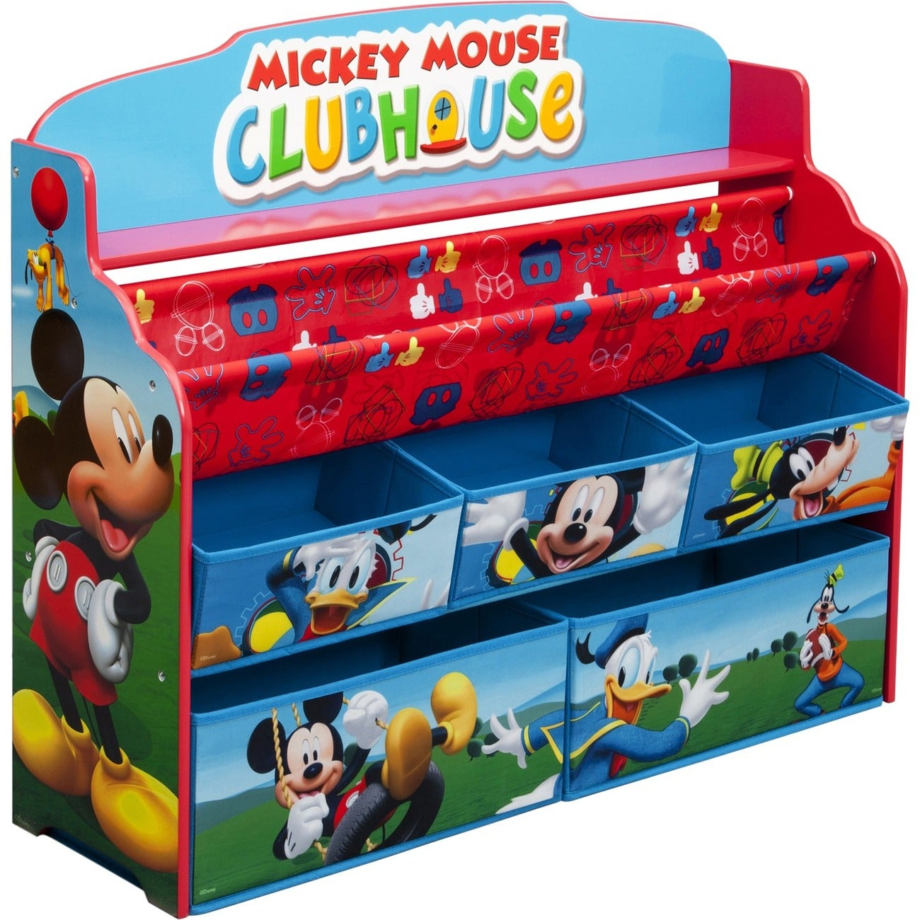 delta children mickey mouse deluxe book toy organizer free