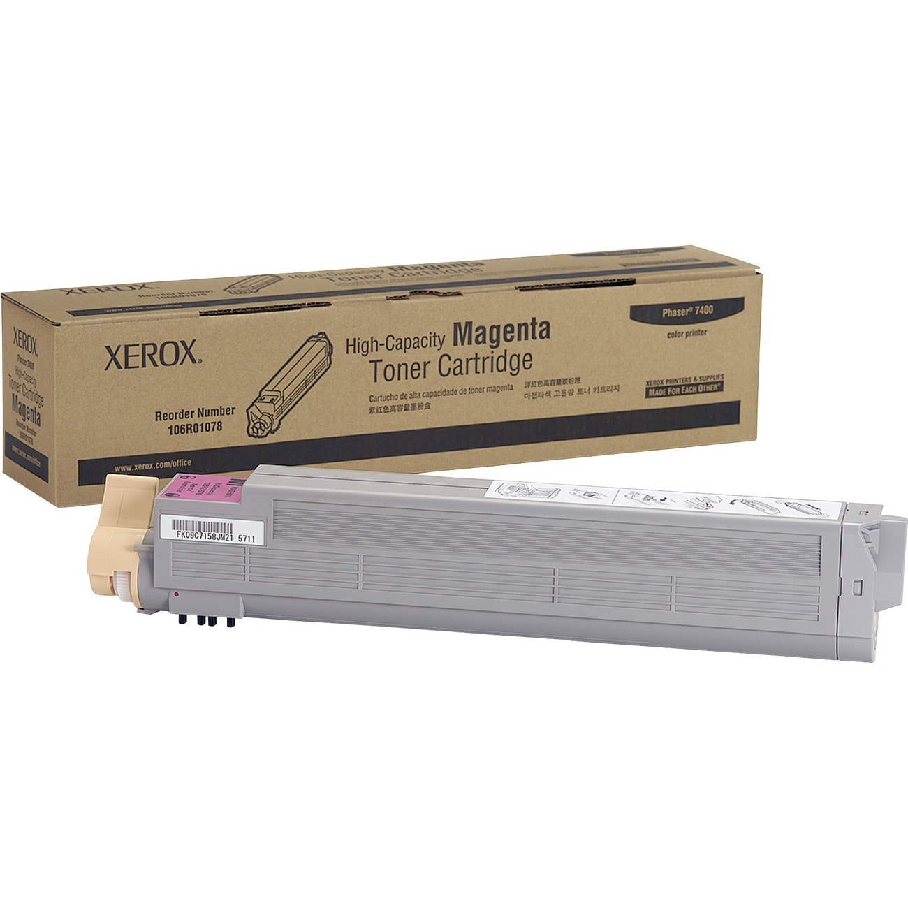 Xerox Black/ Color High-capacity Toner Cartridge for Phazer 7400 - Thumbnail 0
