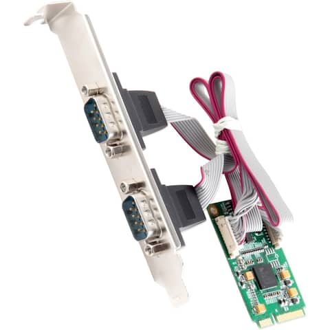 IO Crest 2-Port Serial Mini PCI-E Controller Card (RS-422)