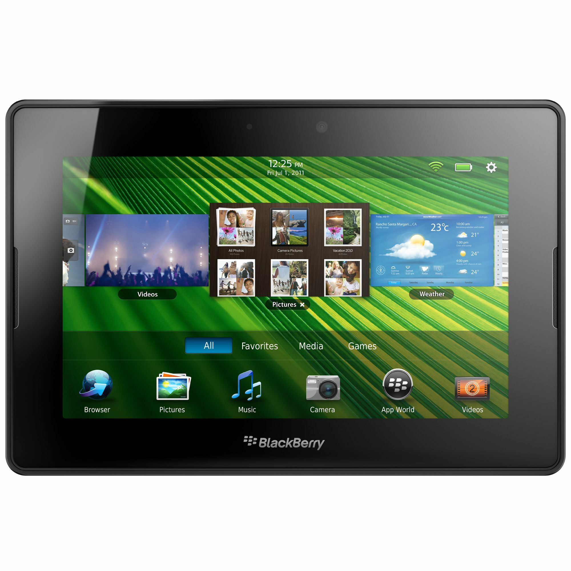 "BlackBerry PlayBook PRD-38548-001 Tablet - 7"" - 1 GB - ARM Cortex A9 - Thumbnail 0"