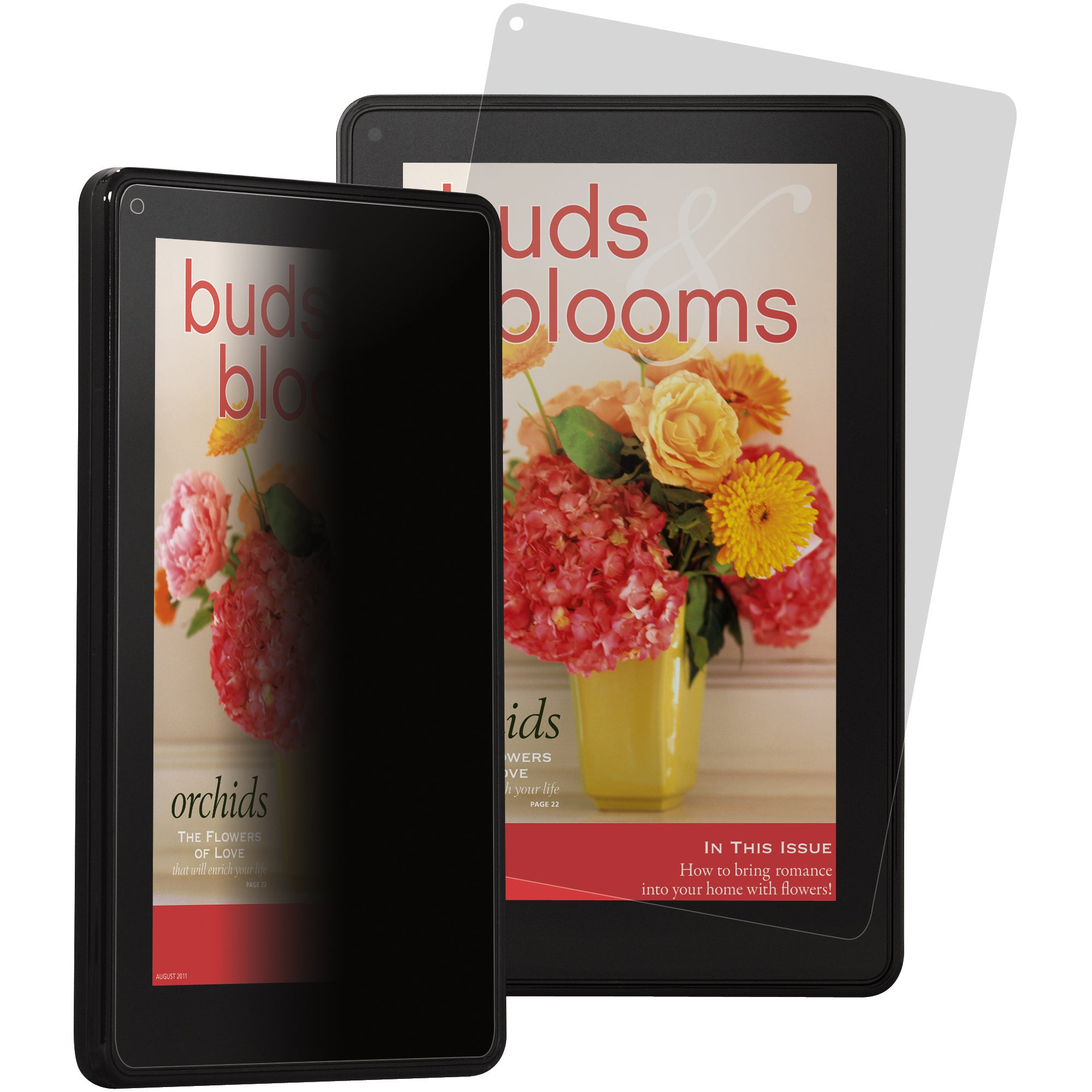 3M Privacy Screen Protector-Amazon Kindle Fire (Portrait) Black