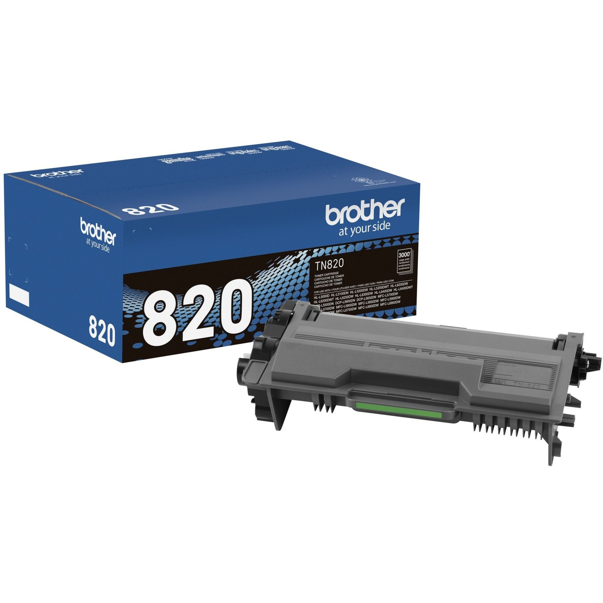 Brother Genuine TN820 Mono Laser Black Toner Cartridge