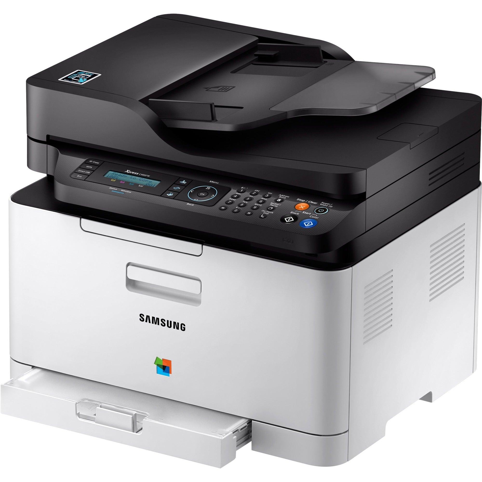 Samsung Xpress SL-C480FW Laser Multifunction Printer - Color - Plain