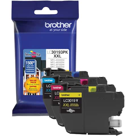 Brother LC30193PK Ink Cartridge - Cyan, Magenta, Yellow