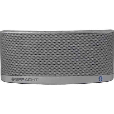 Spracht Blunote2.0 Portable Bluetooth Speaker System - 10 W RMS - Silver