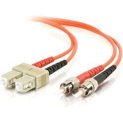 1m SC-ST 62.5/125 OM1 Duplex Multimode PVC Fiber Optic Cable - Orange