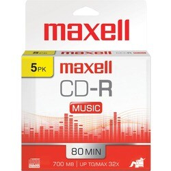 Maxell Music CD-R Media