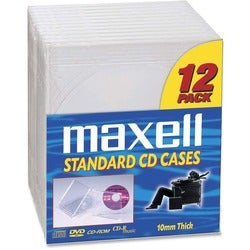 Maxell CD-360 CD/DVD Jewel Cases