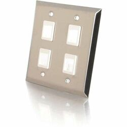 Cables To Go 4 Socket Multimedia Keystone Faceplate
