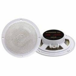 Pyramid MDC6 5.25-Inch Marine 100 Watts Dual Cone Waterproof Stereo Speakers - WHITE