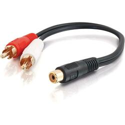 Cables To Go Value Series RCA Jack to RCA Plug Y-Cable
