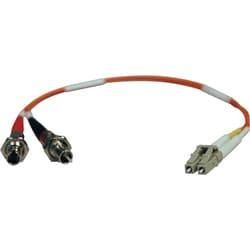 Tripp Lite 0.3M Duplex Multimode Fiber Optic 62.5/125 Adapter LC/ST M