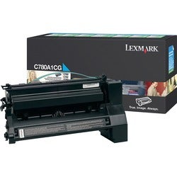 Lexmark Return Program Cyan Toner Cartridge - Thumbnail 0