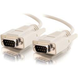 C2G 25ft DB9 M/M Cable - Beige