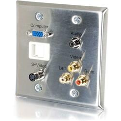 C2G 6 Port Audio & Video Faceplate