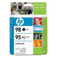 HP 98 Black/95 Tri-Color (CB327FN) Ink Cartridges, Multi-pack (2 cart /pack)