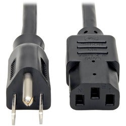 Tripp Lite 2ft Computer Power Cord Cable 5-15P to C13 10A 18AWG 2' 5-