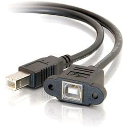 Cables To Go USB 2.0 Panel Mount Cable