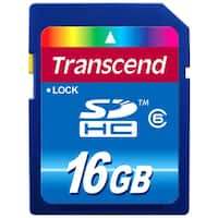 Transcend 16GB Secure Digital High Capacity (SDHC) Class 6 Card