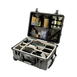 Black Pelican 1560 Large Travel/Storage Case with Padded Dividers