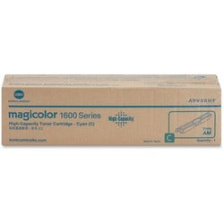 Konica Minolta High Capacity Cyan Toner Cartridge For Magicolor 1650E