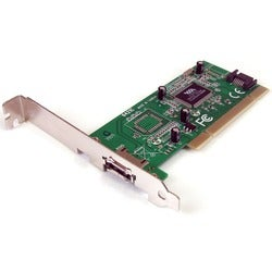 StarTech.com 1 Port eSATA + 1 Port SATA PCI SATA Controller Card w/ L